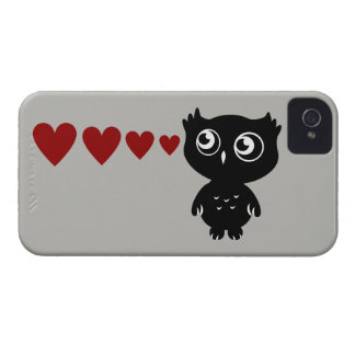 Owl Sees Love II iPhone 4 Case-Mate Cases