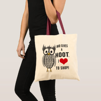 Owl Shopping Tote -  Humor - HOOT