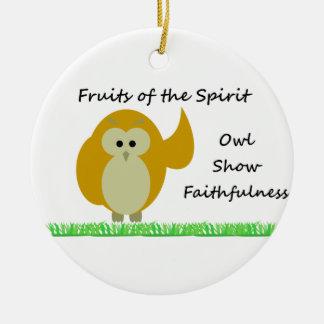 Owl Show Faithfulness Circle Ornament