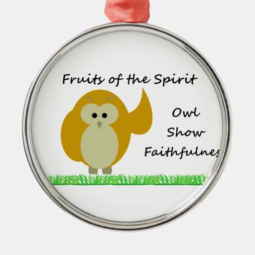 Owl Show Faithfulness Premium Round Ornament