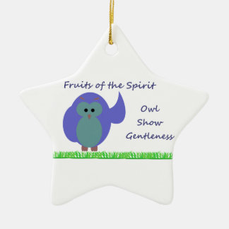 Owl Show Gentleness Star Ornament