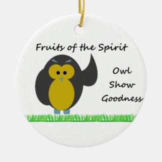 Owl Show Goodness Circle Ornament