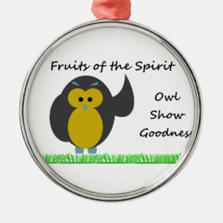 Owl Show Goodness Premium Round Ornament