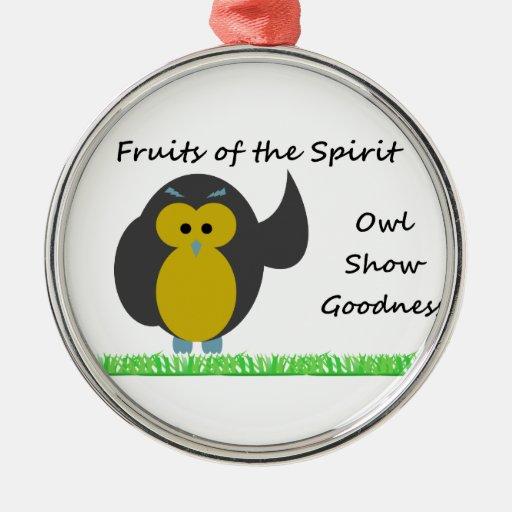 Owl Show Goodness Premium Round Ornament