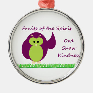 Owl Show Kindness Premium Round Ornament