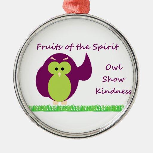 Owl Show Kindness Premium Round Ornament
