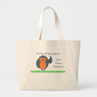 Owl Show Patience Jumbo Tote Tote Bags
