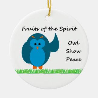 Owl Show Peace Circle Ornament