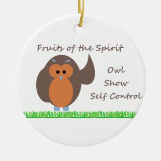 Owl Show Self Control Circle Ornament
