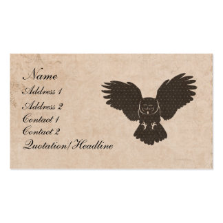 Owl Silhouette Business Card/Tags