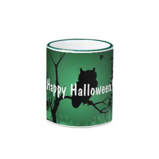 Owl Silhouette Halloween Ringer Mug