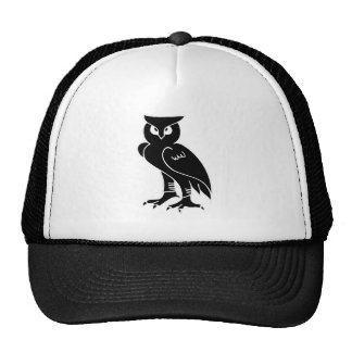Owl Silhouette Mesh Hats