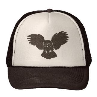 Owl Silhouette Lid Mesh Hats