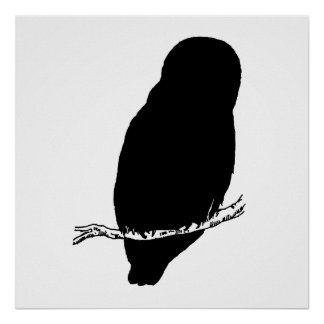Owl Silhouette Poster