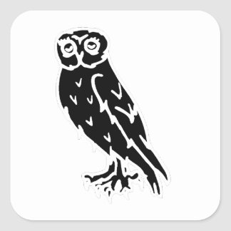 Owl Silhouette Stickers