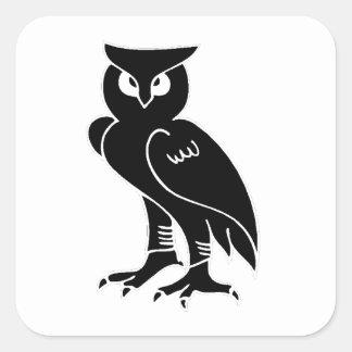 Owl Silhouette Square Sticker