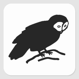 Owl Silhouette Sticker