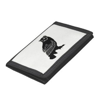 Owl Silhouette Trifold Wallet