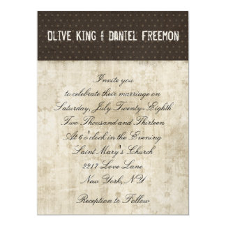 "Owl Silhouette Wedding Invitation 6.5"" X 8.75"" Invitation Card"