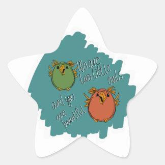 owl sisters star sticker