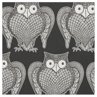 Owl Sketch Cartoon Pattern Fabric