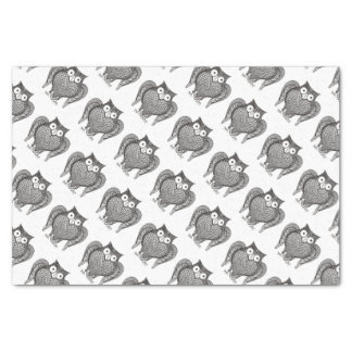 Owl Sketch Pattern Tissue Paper