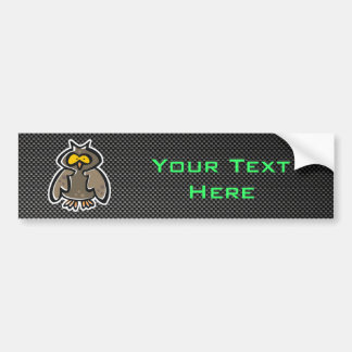 Owl; Sleek Car Bumper Sticker