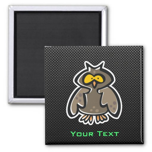Owl; Sleek Refrigerator Magnet