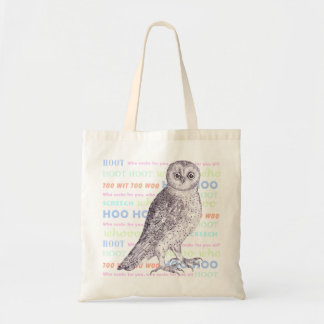 Owl Sounds Owl Noises Barred Owl or Spotted Owl Canvas Bags