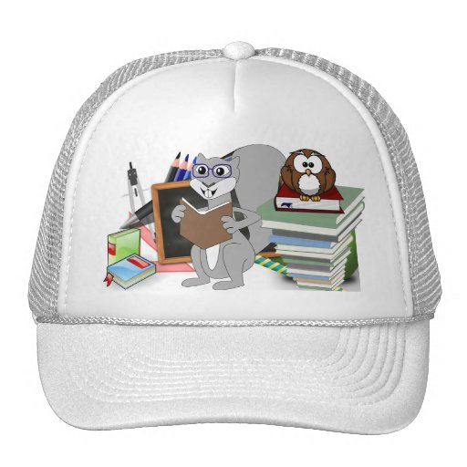 Owl Squirrel  Smart School Teacher Destiny Class Hats