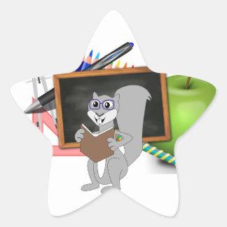 Owl Squirrel  Smart School Teacher Destiny Class Star Sticker