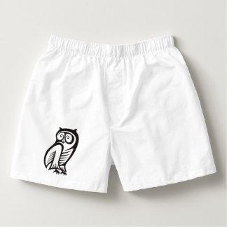 Owl Symbol Black Boxers