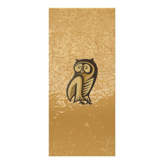 Owl Symbol Color Personalized Rack Card