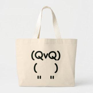 Owl Symbol Large Tote Bag