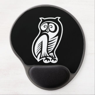 Owl Symbol White Gel Mouse Pads