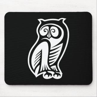 Owl Symbol White Mousepad