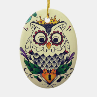 owl tattooed ornament