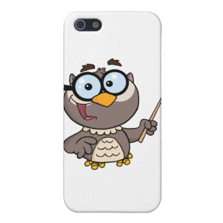 Owl Teacher Cartoon Character With A Pointer iPhone 5/5S Covers