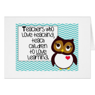 Owl Teacher Greetings Card