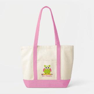 Owl Teacher Tote Bag