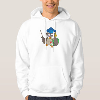 Owl teacher with book and pointer hoodie
