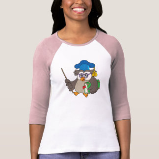 Owl teacher with book and pointer shirt