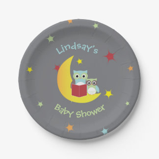 Owl Themed Party Plates-Baby Shower 7 Inch Paper Plate