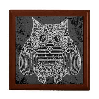 Owl Tile Gift Box, Golden Oak Gift Box