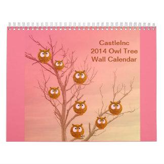 Owl Tree 2014 Wall Calendar