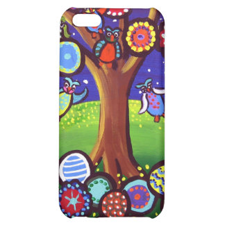Owl Tree Party Fun Folk Art iPhone Speck Case iPhone 5C Covers