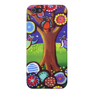 Owl Tree Party Fun Folk Art iPhone Speck Case iPhone 5 Covers