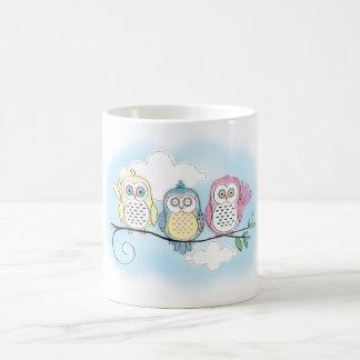 Owl Trio Coffee Mug