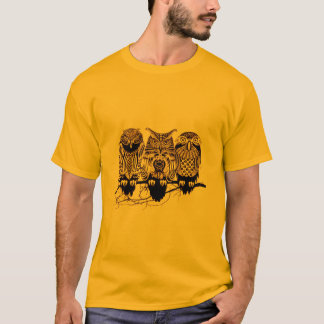 Owl Trio Men's Basic T Shirt