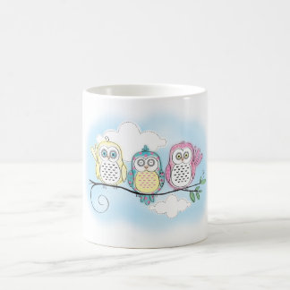 Owl Trio Basic White Mug